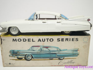 1959 Bandai Japan Cadillac Sedan Friction Tin Car