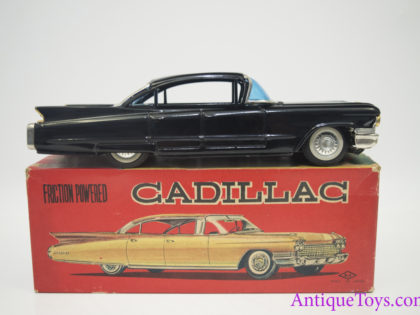1960 Suzuki & Edwards Friction Cadillac Tin Car