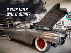 Starting up the 1959 Cadillac Eldorado after a year of sitting