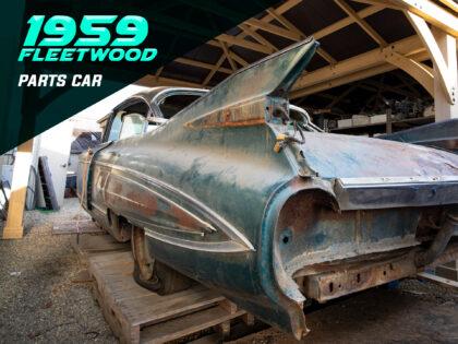 The 1959 Cadillac Fleetwood is a Superior Parts Car